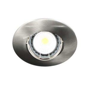 LED spot kantelbaar GU10 COB 3Watt rond NIKKEL dimbaar