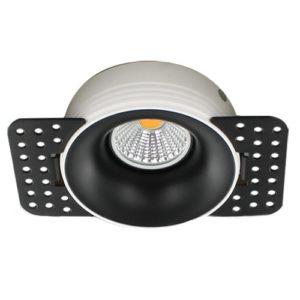 LED trimless spot GU10 COB 5Watt rond ZWART dimbaar2
