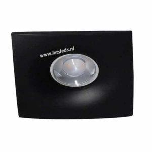 Wifi LED spot GU10 5Watt ZWART vierkant dimbaar