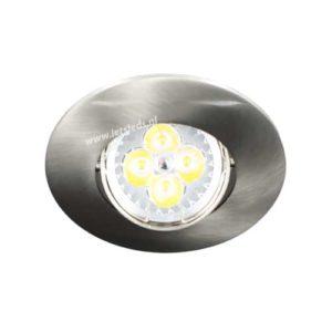 LED spot kantelbaar GU10 4Watt rond NIKKEL dimbaar