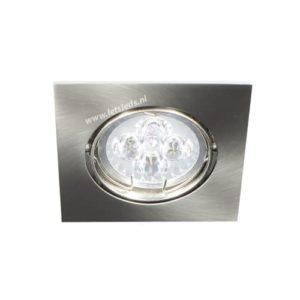 LED spot kantelbaar GU10 4Watt vierkant dimbaar