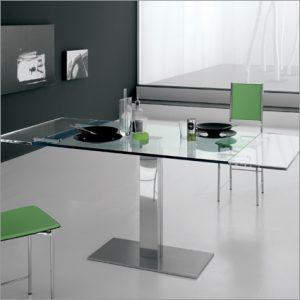 Cattelan Italia Elvis Glass Table, by Alberto Danese
