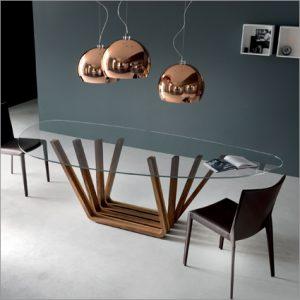 Cattelan Italia Domino Glass Table, by Andrea Lucatello