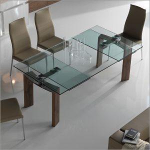 Cattelan Italia Daytona Glass Extending Table, by Studio Kronos