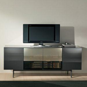 Bontempi Casa Aly Hi-Fi Glass TV Unit