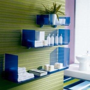 Bontempi Casa Osaka Wall Glass Shelf