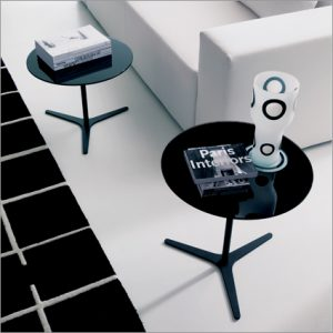 Bontempi Casa Elica Glass Side Table