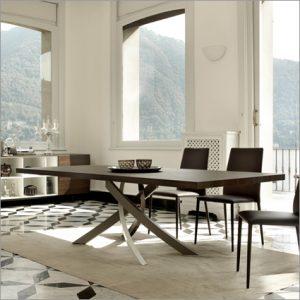 Bontempi Casa Artistico Glass Table, Fixed Top
