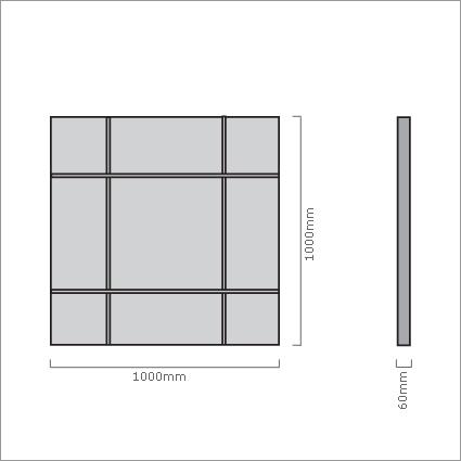 Porada Four Seasons Wall Mirror - Square, by Opera Design