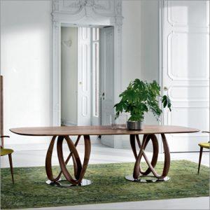 Porada Infinity Wood Top Dining Table, by S. Bigi