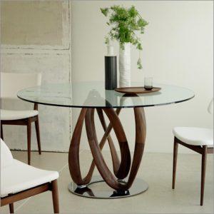 Porada Infinity Glass Dining Table, by S. Bigi
