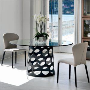 Porada Jean Glass Dining Table, by C. Ballabio