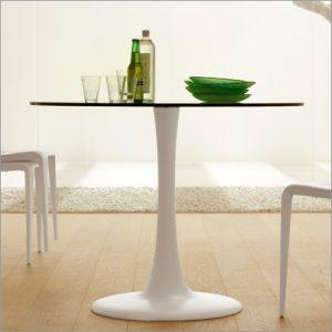Cattelan Italia Hugo Bistro Glass Table, by Philip Jackson
