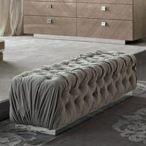 Giorgio Collection Sunrise Bench in Fabric or Leather