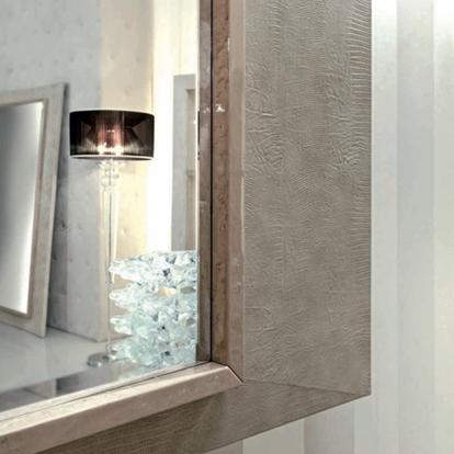 Giorgio Collection Sunrise Leather Framed Mirror