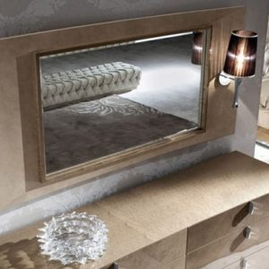 Giorgio Collection Sunrise Leather Framed Mirror With Light