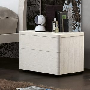 Mobili Domani Dolcevita Bedside Night Table, 2 Drawers