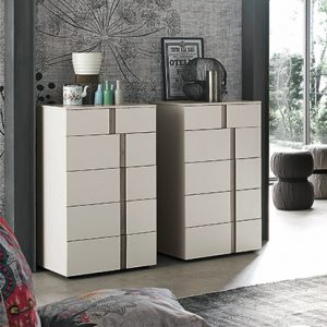 Mobili Domani Athena Tallboy Medium Chest of Drawers, 5 Drawers