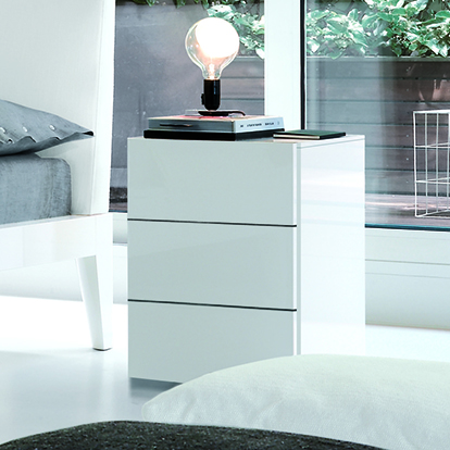 Mobili Domani Nap Bedside Night Table, 3 Drawer