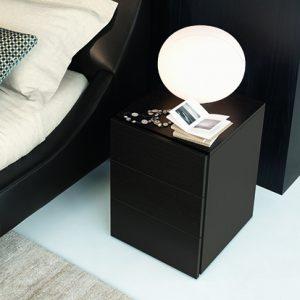 Mobili Domani Nap Bedside Night Table, 3 Drawer