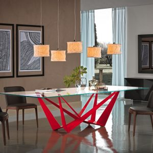 Cattelan Italia Skorpio Glass Dining Table, by Andrea Lucatello