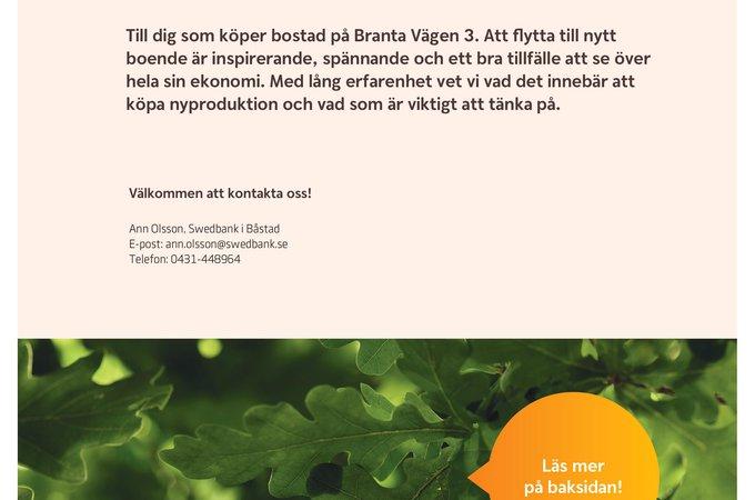 Erbjudandeblad - Branta Vägen 3 Swdbank