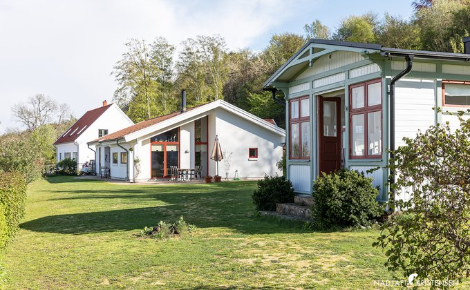 Exteriört boningshus och gästhus