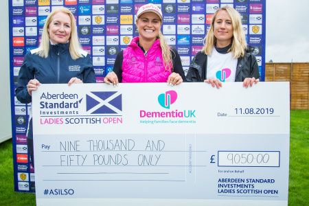 Dementia UK raise over £9,000 at Aberdeen Standard Investments Ladies Scottish Open