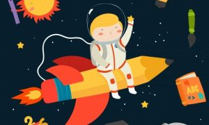 hand-drawn-kid-in-the-space-background_23-2147730578