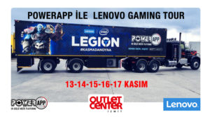 Gezici Oyun Üssü  PowerApp Kenworth Game On Tour  Outlet Center İzmit'te!
