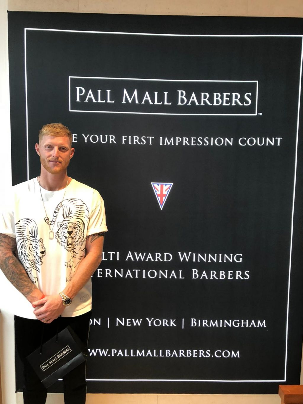 Ben Stokes Haircut at Birmingham Barbershop
