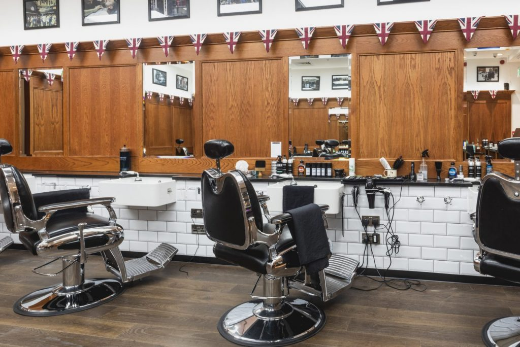 Inside Pall Mall Barbers Birmingham
