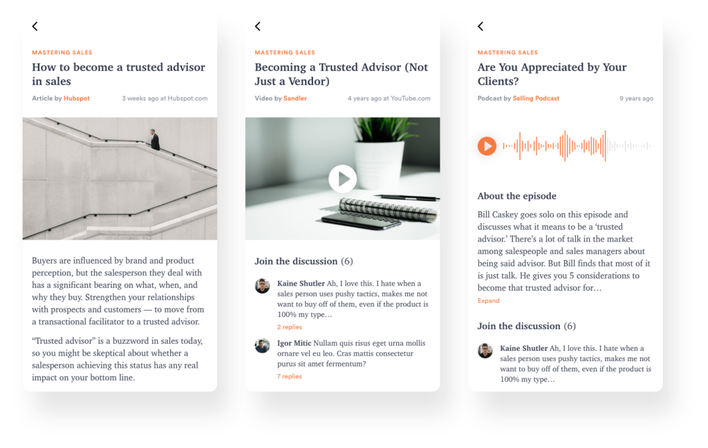 elearning platform for curated content 2