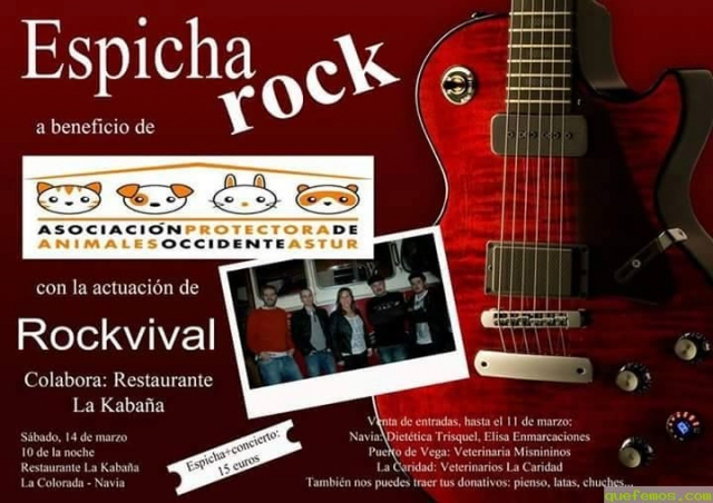 Espicha Rock a beneficio de la Protectora de Animales del Occidente Astur