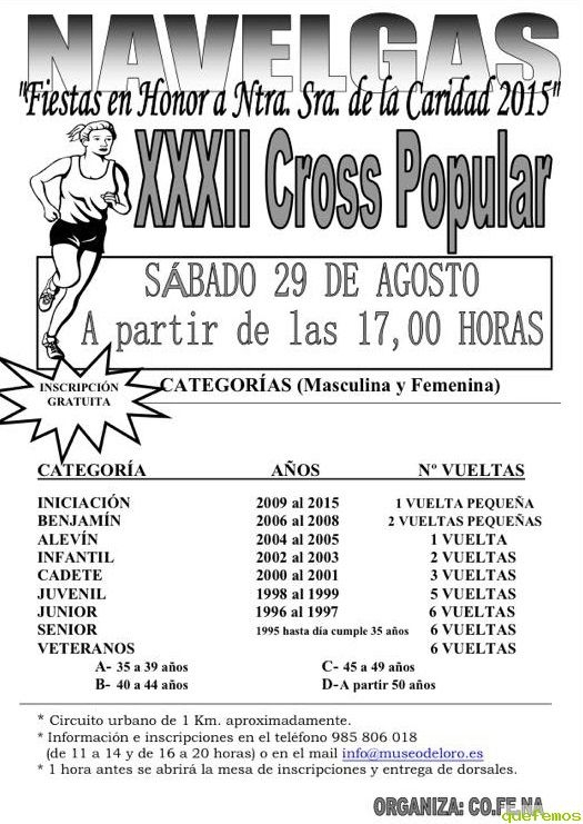 XXXII Cross Popular de Navelgas 2015