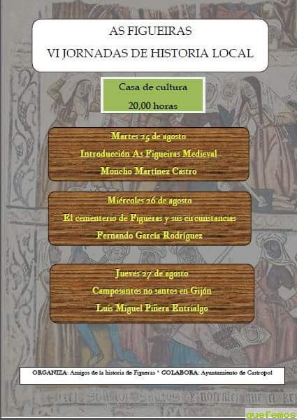 "VI Jornadas de Historia Local ""As Figueiras"""