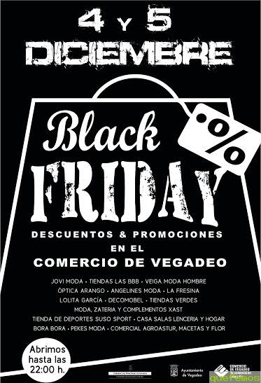 Black Friday 2015 en Vegadeo