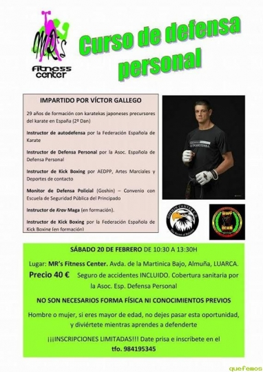 MR's Fitness Center organiza un Curso de Defensa Personal en Almuña