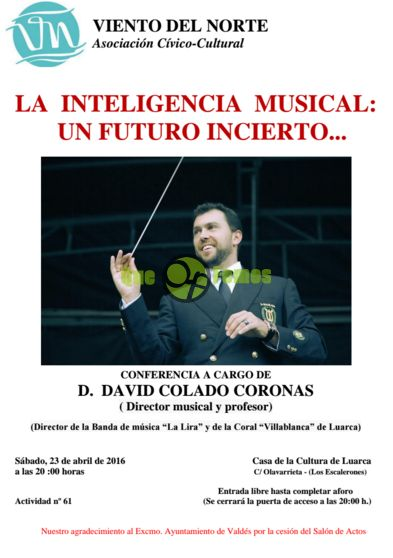 David Colado conferencia sobre inteligencia musical en Luarca