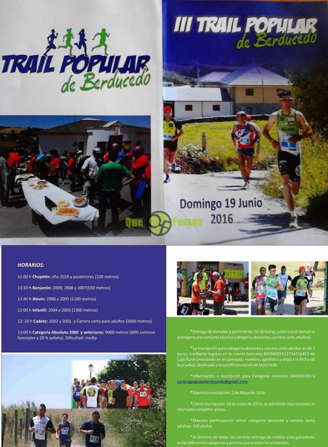 III Trail Popular de Berducedo 2016