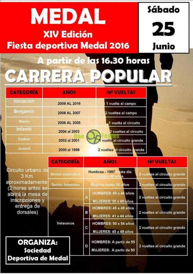 XIV Carrera Popular de Medal 2016