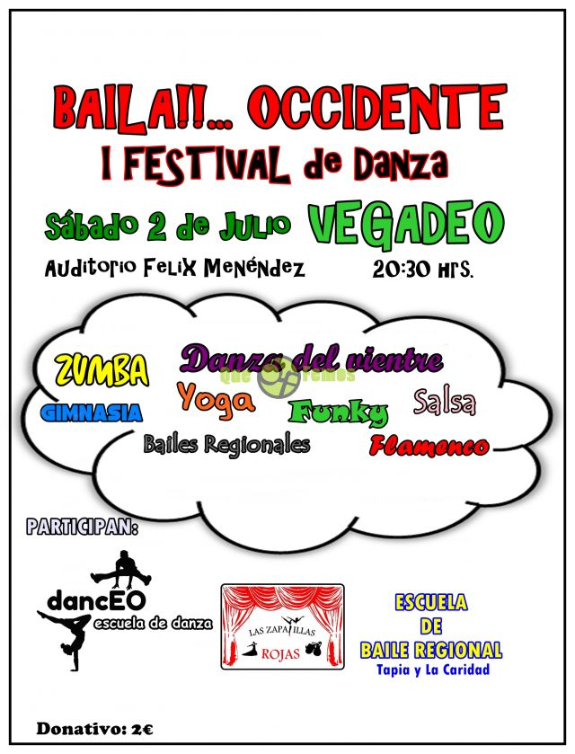 "I Festival de Danza ""Baila Occidente"" en Vegadeo 2016"