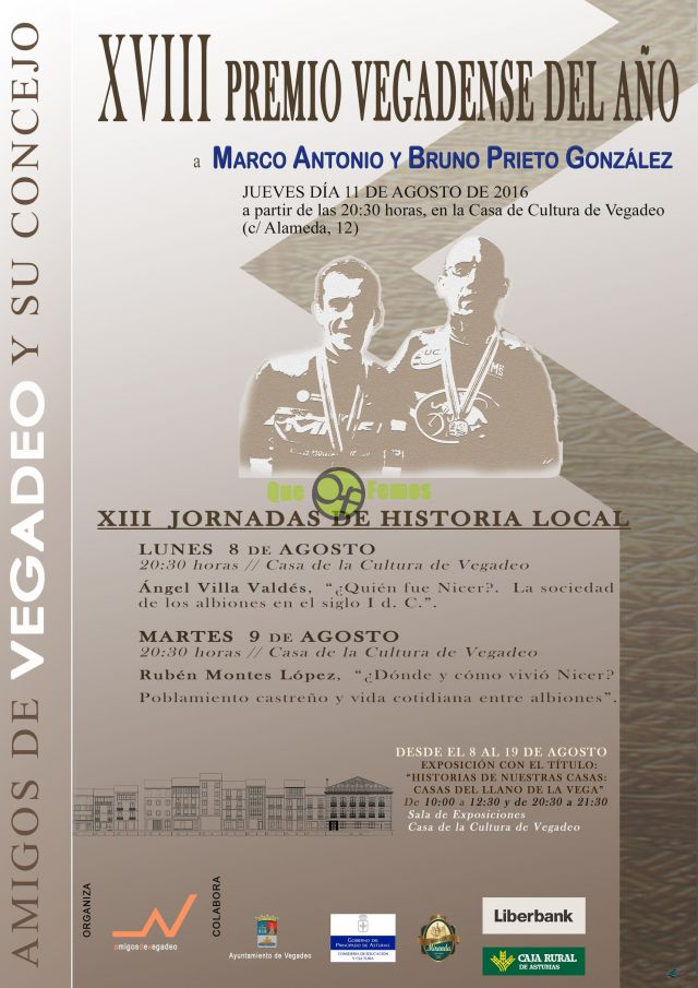 XIII Jornadas de Historia Local en Vegadeo 2016
