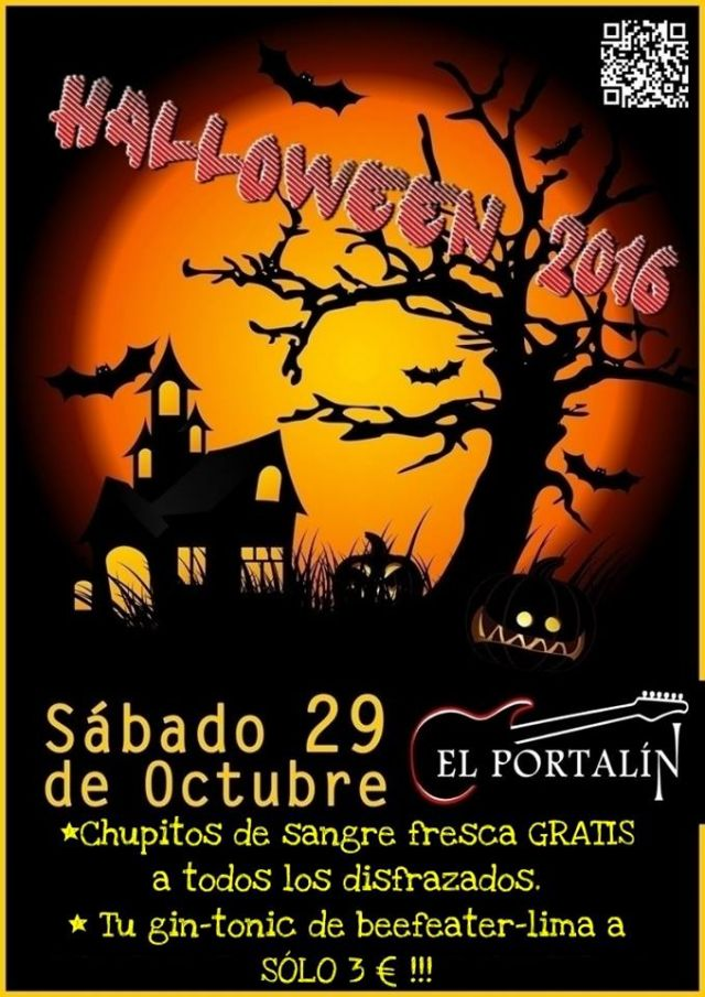 Halloween 2016 en El Portalín Rock Bar de Navia