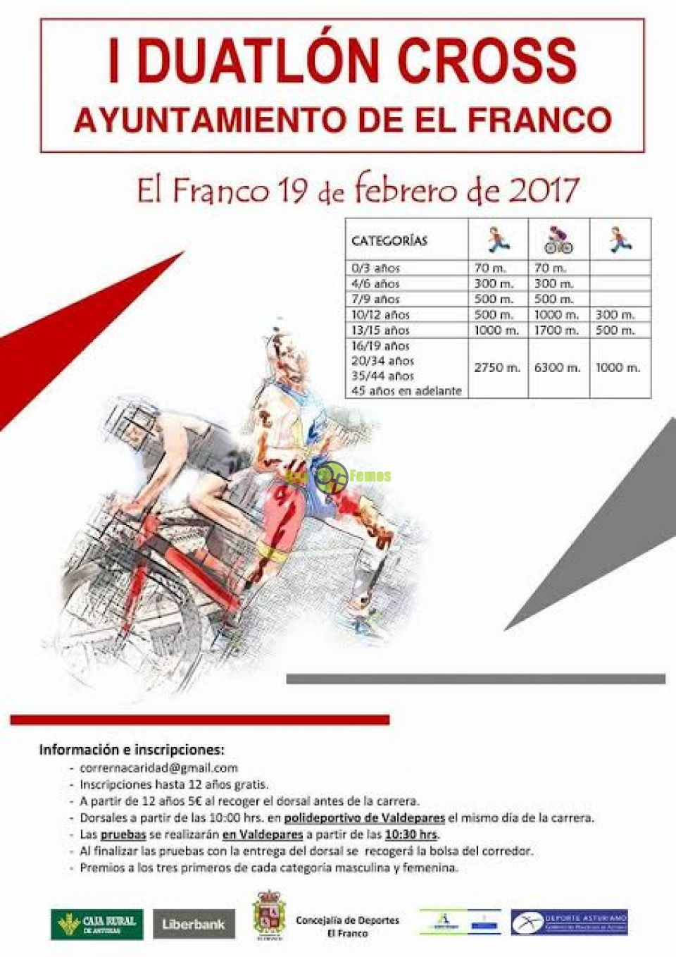 I Duatlón Cross 2017 en El Franco