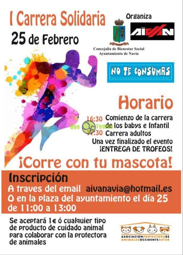 I Carrera Solidaria en favor de la Protectora Occidente Astur