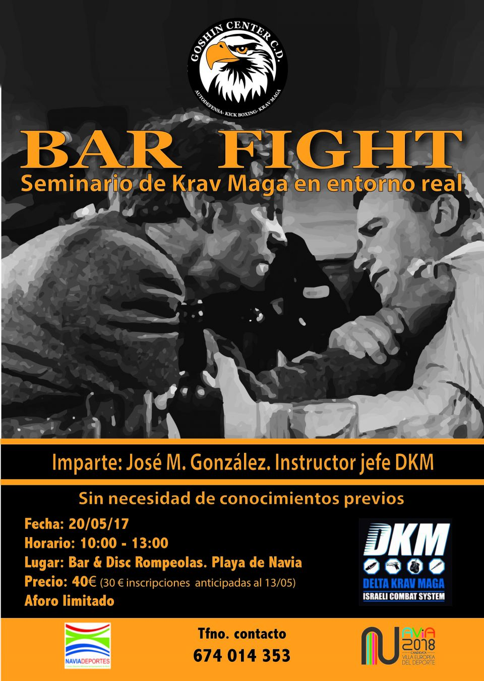 Bar Fight: seminario de Krav Maga en entorno real en Navia