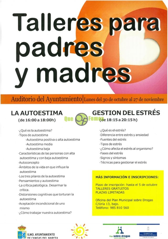 Talleres para padres y madres en Cangas