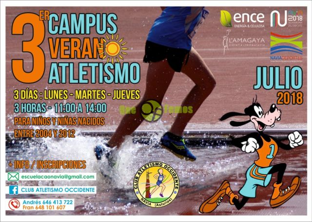 III Campus de Verano de Atletismo del Club Atletismo Occidente en Navia
