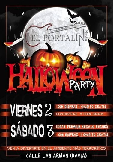 Halloween 2018 en El Portalín Rock Bar de Navia